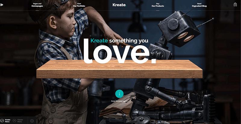 thèmes WordPress pour créer un site Web d'agence créative - Kreate