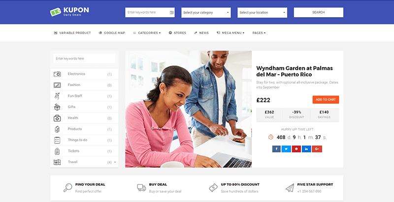 5 Temas de WordPress para crear un sitio web de cupones | BlogPasCher
