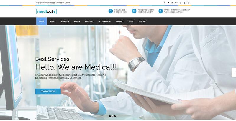 Medical themes wordpress creer site web clinique hopital centre sante dispensaire dentiste