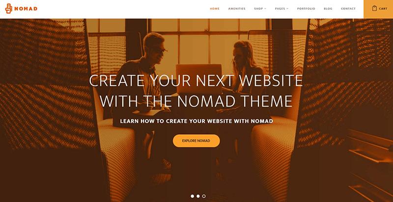 Nomad themes wordpress creer site web entreprise coworking bureaux