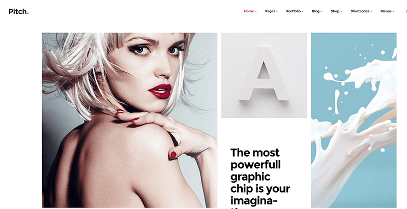 Pitch themes wordpress creer site web agence top models mannequins fashion