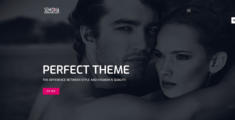 Semona themes wordpress creer site web agence top models mannequins fashion