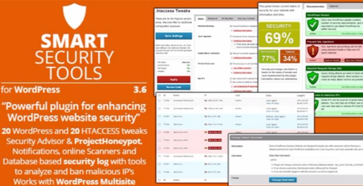 Smart security tools plugins wordpress proteger site contre malwares attaques virus