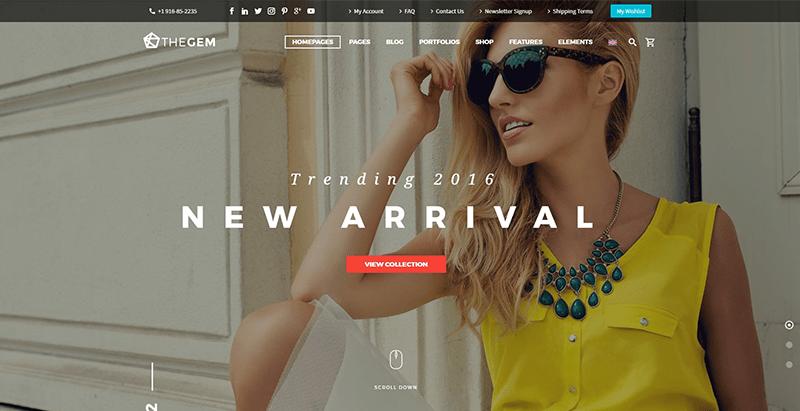 Thegem themes wordpress creer site ecommerce boutique en ligne vente achat commerce electronique