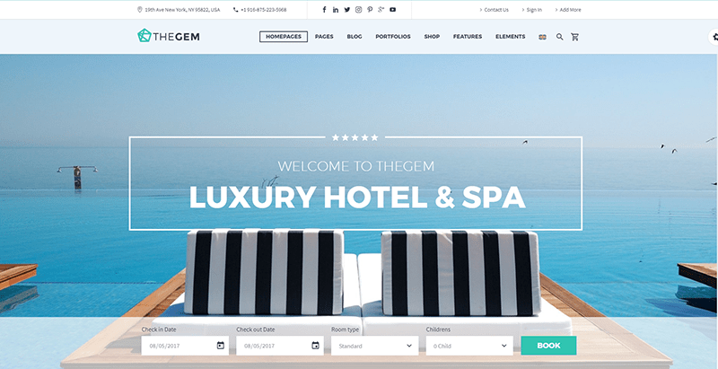10 Temas de WordPress para crear un sitio web del hotel | BlogPasCher