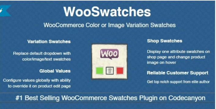 plugins WordPress pour créer des attributs pour vos produits variables - Wooswatches