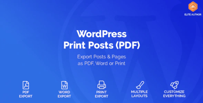 Wordpress print posts pages pdf plugin wordpress