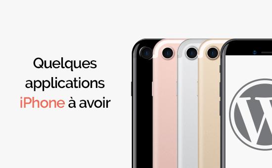 Applications iphone à avoir absoluments