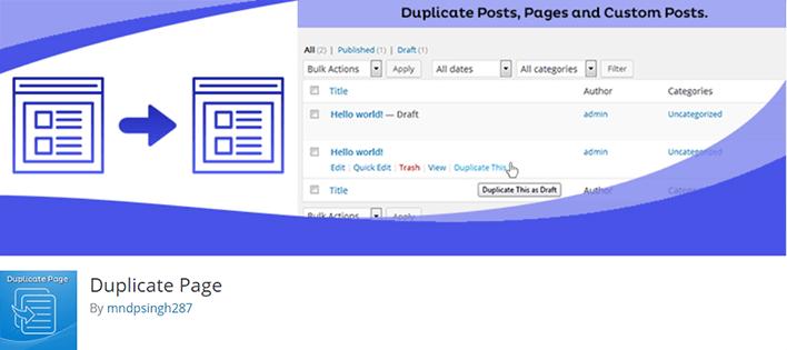 Comment dupliquer facilement article page wordpress