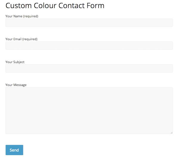 Contact form avec le thème colormag