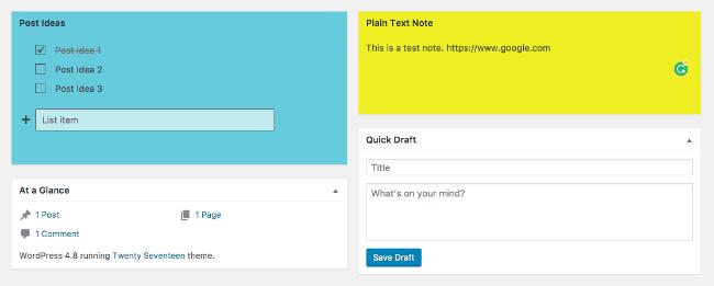 Créer des notes sur wordpress