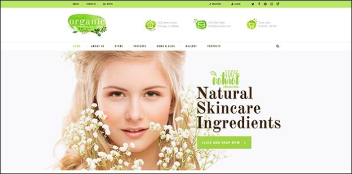 Organic beauty themerex net home 2