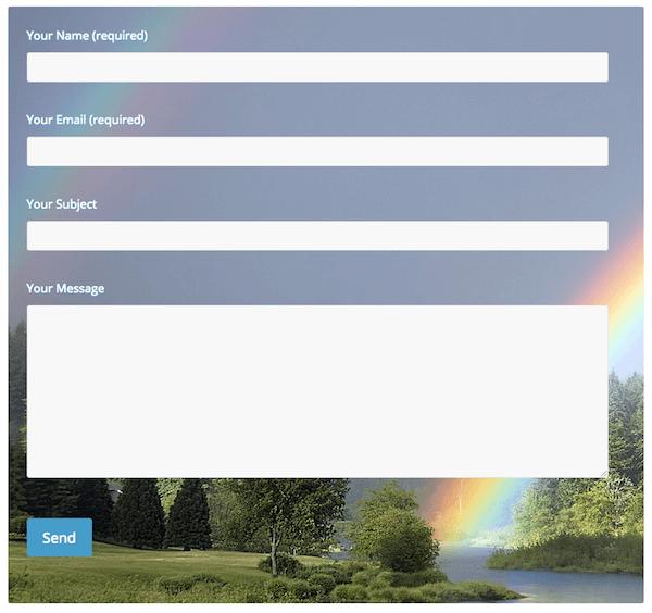 Résultat de personnalisation dun formulaire contact form 7
