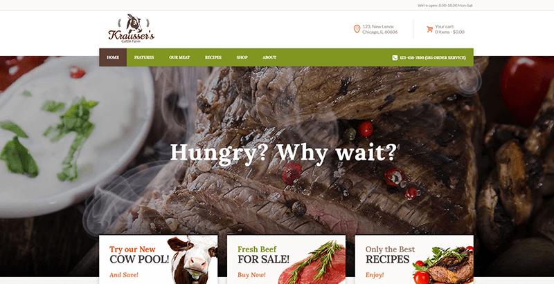 Temas de WordPress para los productos orgánicos sitio web de venta ...