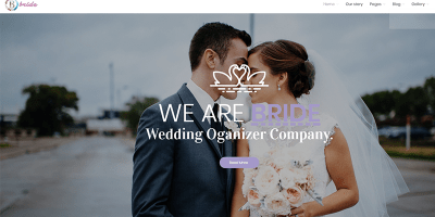 ธีมเจ้าสาว Wordpress สร้างเว็บไซต์กิจกรรมพิธีแต่งงานเจ้าสาว