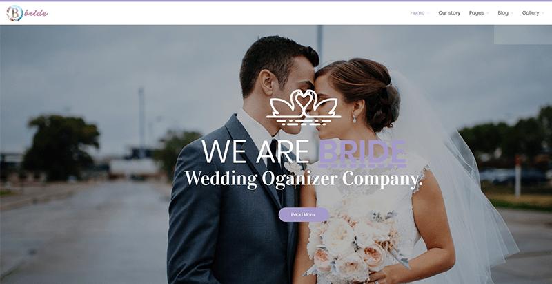 ธีมเจ้าสาว wordpress สร้างเว็บไซต์งานพิธีแต่งงานเจ้าสาว