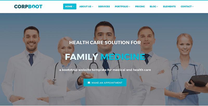 Temas de 10 WordPress para crear un sitio web de clínica de salud ...