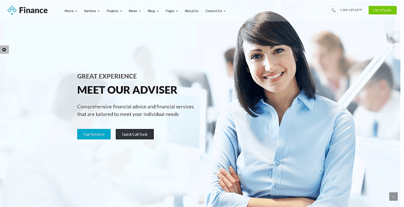 Finance themes wordpress creer site internet compagnie assurances