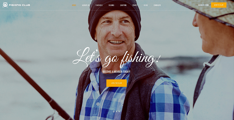 Fishing Hunting Club Themes Wordpress Creer Entreprise Club Peche