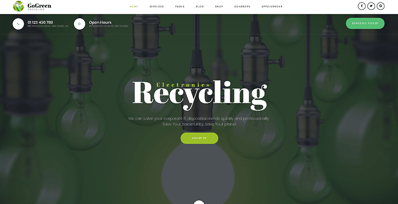 Gogreen themes wordpress creer site web organisation ecologique environnement ecosysteme