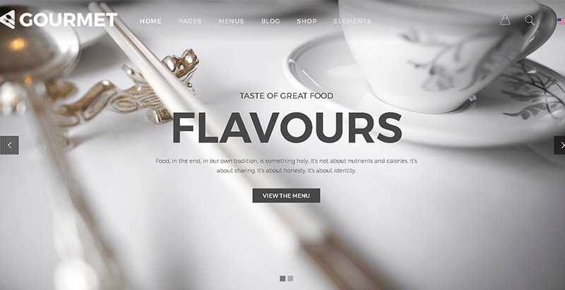 Gourmet themes wordpress creer site web restaurant café boulangerie resto