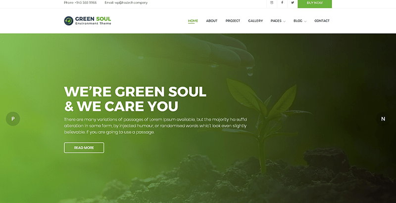 Greensoul themes wordpress creer site web organisation ecologique environnement ecosysteme