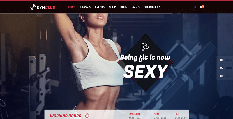 Gym club theme wordpress criar website club fitness gym