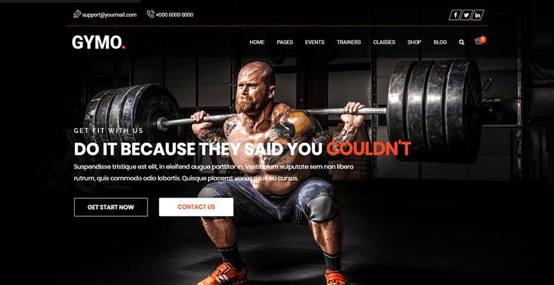 Gymo theme wordpress creer site web club fitness gym