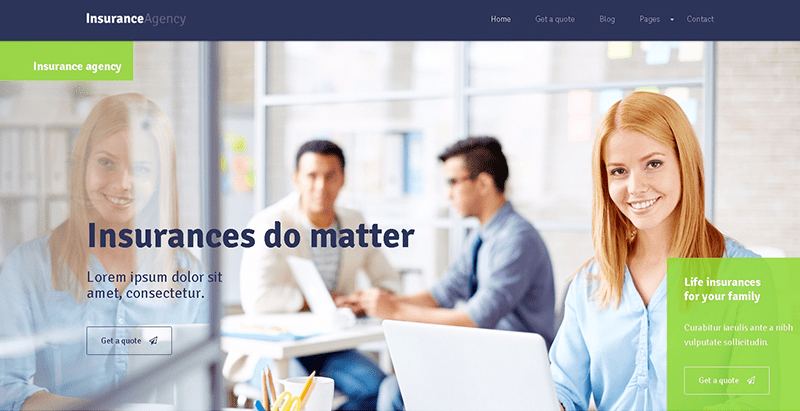 Insurance Themes Wordpress Creer Site Internet Compagnie Assurances
