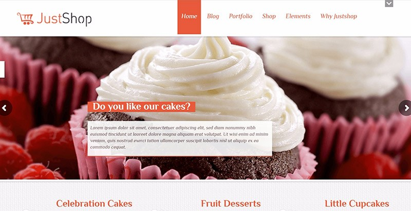 Justshop Themes Wordpress Criar site Glacier Boulangerie Patisserie