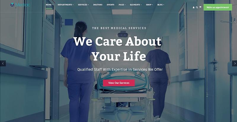 10 thèmes WordPress pour créer un site Web de clinique de santé