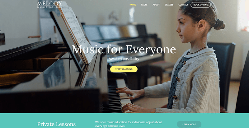 Melody themes wordpress creer site web college lycee universite