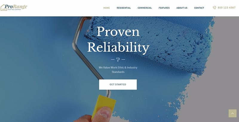 Prorange themes wordpress creer site web entreprise pme compagnie