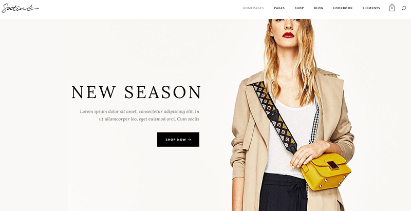 Satine themes wordpress vendre vetements internet site ecommerce