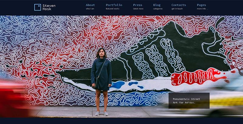 10 WordPress Themes para criar um site da arte | BlogPasCher