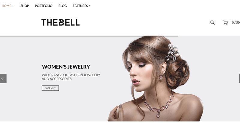 Thebell themes wordpress vendre vetements internet site ecommerce