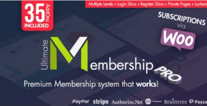 Ultimate membership pro plugins wordpress verrouiller contenus site web