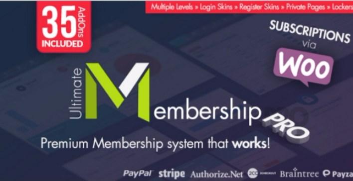I plugin di Ultimate membership pro wordpress bloccano il contenuto del sito web