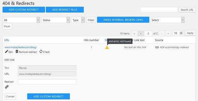 Wp meta seo 404 yönlendirmeleri