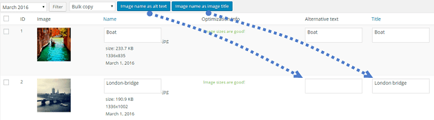 Wp meta seo bulk image editing