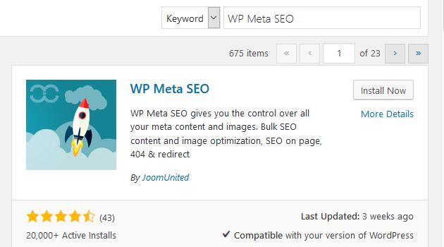 Wp meta seo installation activation
