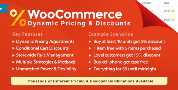 Woocommerce dynamic pricing discounts 1