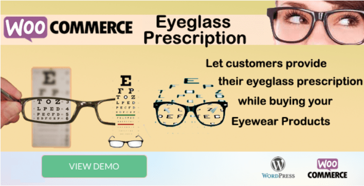 Woocommerce eyeglass prescription