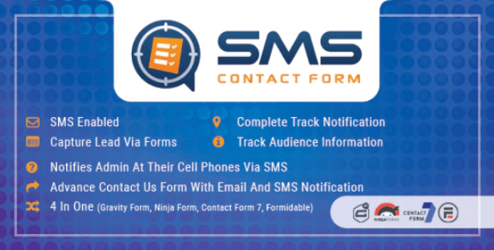 Wordpress sms contact form plugin by promotionking codecanyon