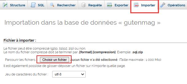 Comment dupliquer base de donnees wordpress phpmyadmin 6