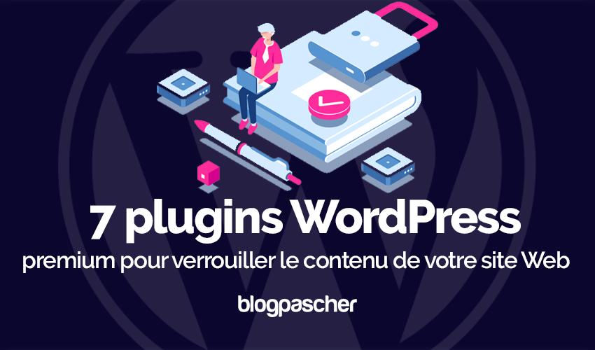 Plugin wordpress verrouiller contenu site web