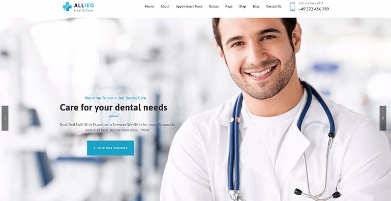 10 thèmes WordPress pour créer le site Web d'une clinique de santé