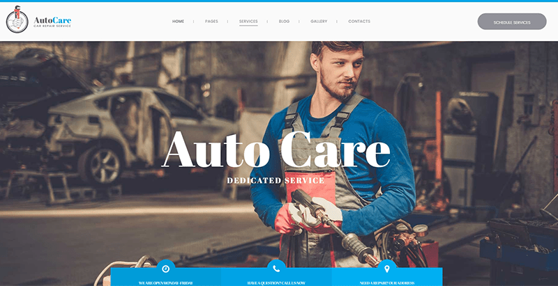 Autocare Themes Wordpress Creer Site Web Concessionnaire Auto Garage
