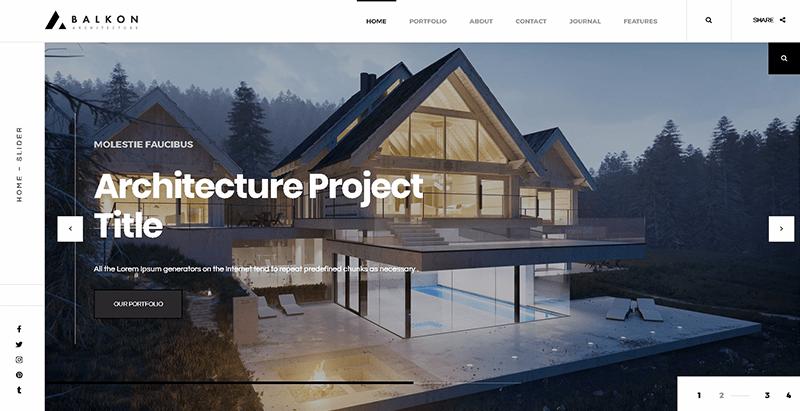Balkon themes wordpress creer site web entreprise construction renovation