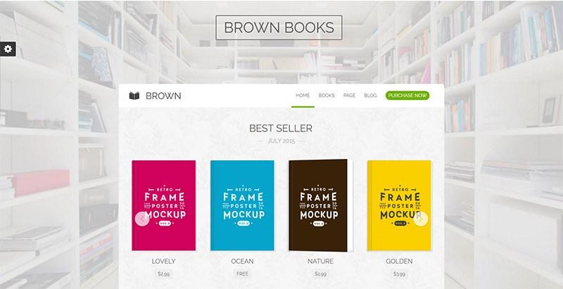 Brown Themes Wordpress Site Internet Vente Ebooks Librairie Bibliothèque Auteur Maison Edition